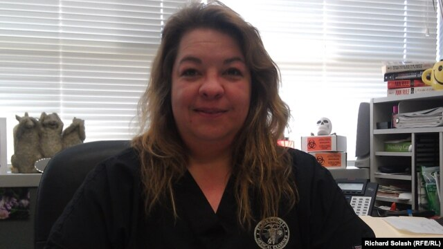Shirley Standefer, chief investigator of the Ector County Medical Examiner's Office in Odessa