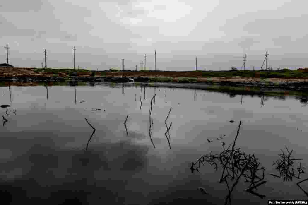 Spilled oil near Novkhany village.