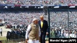 Հնդկաստան - ԱՄՆ նախագահ Դոնալդ Թրամփը և Հնդկաստանի վարչապետ Նարենդրա Մոդին ժամանում են Ահմեդաբադի կրիկետի մարզադաշտ, 24-ը փետրվարի, 2020թ.