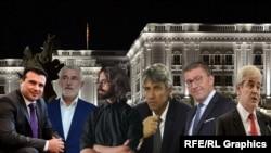Зоран Заев, Мендух Тачи, Димитар Апасиев, Зијадин Села, Христијан Мицкоски и Али Ахмети