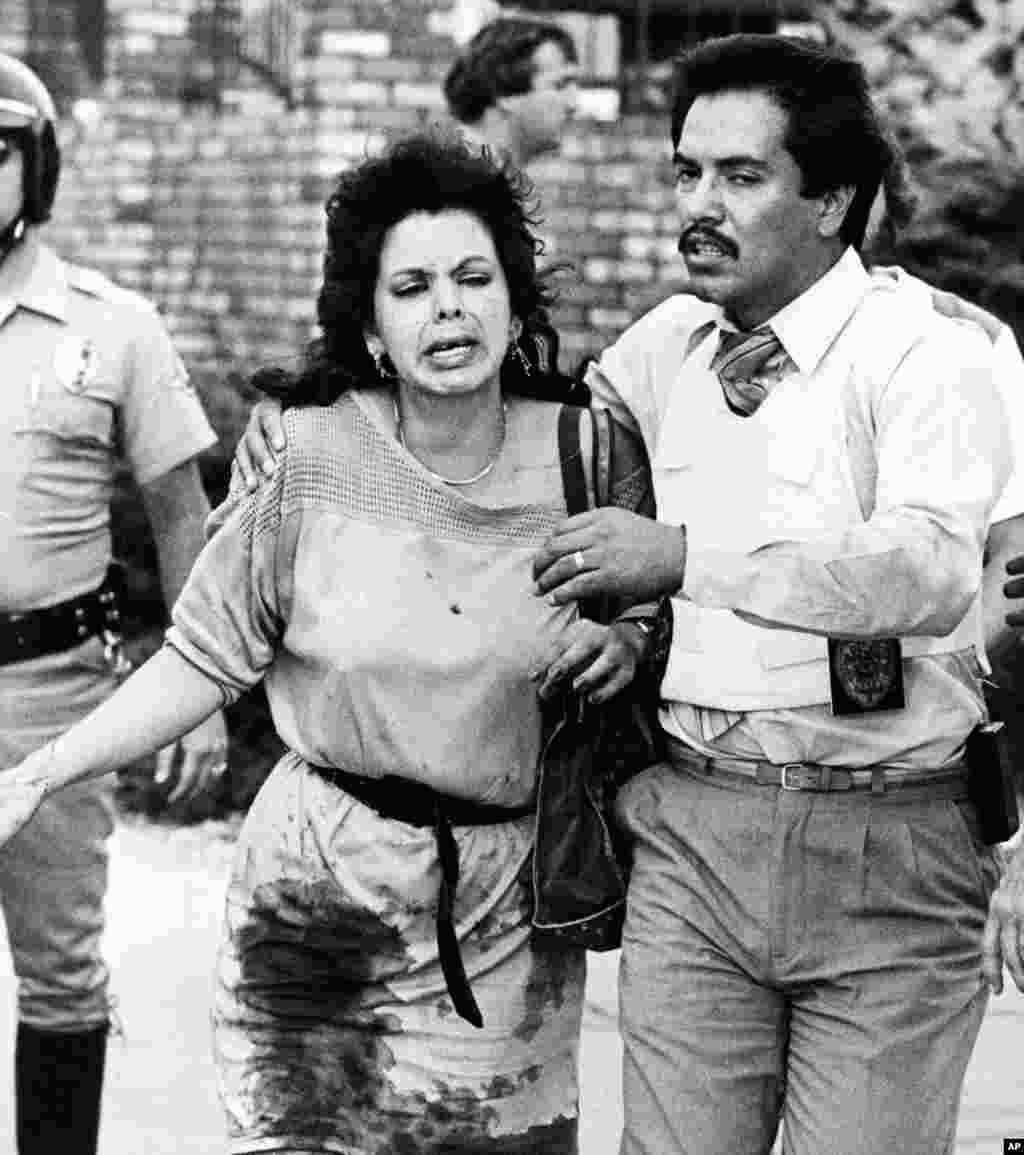 Më 8 korrik, 1984, 41 vjeçari James Huberty gjuajti me armë brenda një prej lokaleve të McDonaldsit, në San Diego të Kalifornisë. Ai vra 21 njerëz, përfshirë pesë fëmijë dhe gjashtë adoleshentë, përpara se të vritej nga policia me snajper.