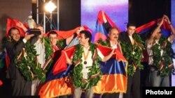 Мужская сборная Армении по шахматам (архивная фотография)