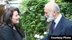 Londër - Presidentja e Kosovës Atifete Jahjaga gjatë takimit me Princin Michael të Kentit