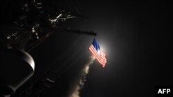 Lansiranje tomahavka sa američkih brodova ka Siriji