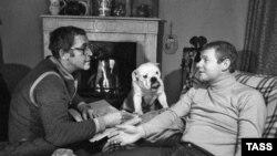 Василий Ливанов и Виталий Соломин, 1982 г.
