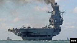 "Orsýetiň ""Admiral Kuznetsow"" adyndaky uçar göteriji gämisi."