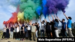 Georgian LGBT activists gathered on May 17 in Tbilisi, despite the threat of violence.