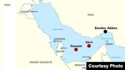 نقشه محل عملیات «آخوندک» که شاهد درگیری خونین و گسترده میان جمهوری اسلامی و آمریکا بود