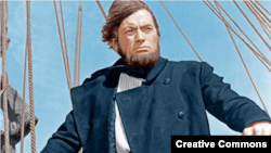 Грегори Пек в роли капитана Ахава в экранизации Моби Дика 1956 года
