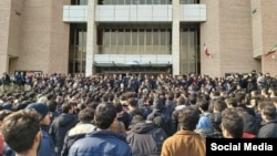 Students protest in Tehran's Sharif University. January 13, 2020