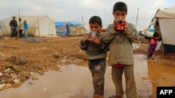 В лагере для сирийских беженцев. Иллюстративное фото.