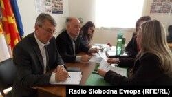 Ден на отворени идеи во организиција на Општина Битола за да се слушнат размислувањата на граѓаните за нови проекти. Владимир Талески, градоначалник на Битола.