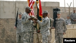 القوات الأميركية في آخر يوم لوجودها في العراق