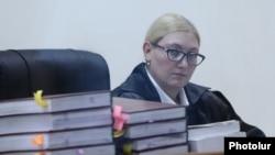 Armenia -- Judge Anna Danibekian presides over the trial of former President Robert Kocharian, Yerevan, September 20, 2019.