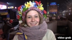 София Марченко на Майдане. 20 декабря 2013 года