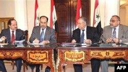 بعض قادة الكتل السياسية العراقية الفائزة في انتخابات السابع من آذار