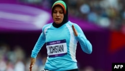 Əfqanıstanlı atlet Tahmina Kohistani London Olimpiya Oyunlarında, 2012