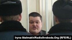 Адвокат Віктор Смалій під час розгляду його справи щодо замаху на суддю, Київ, 6 лютого 2014 року