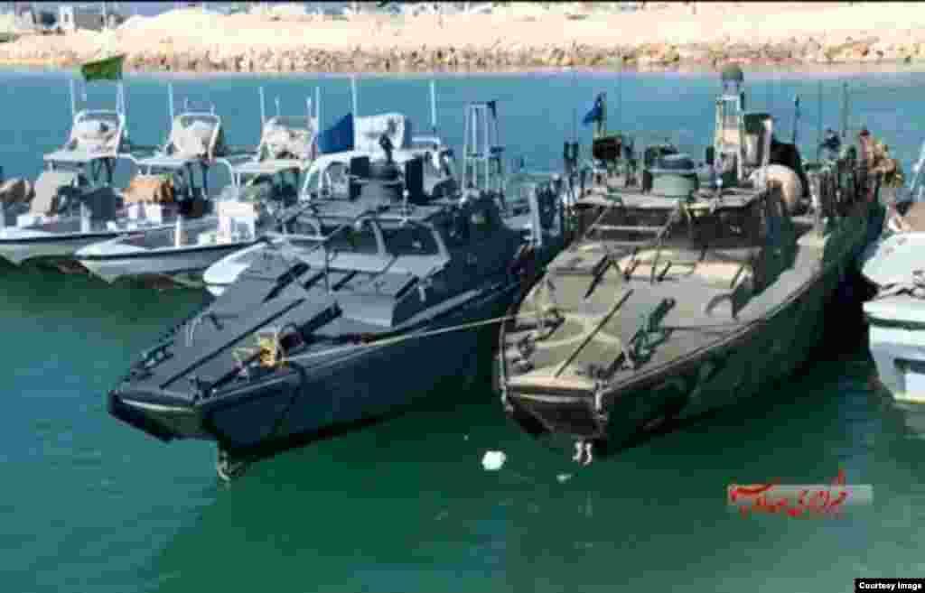 دو قایق آمریکایی توقیف شده توسط ایران