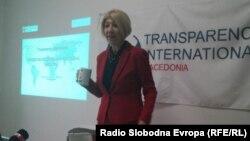 Слаѓана Тасева, претседател на Транспаренси интернешнел- Македонија.