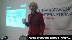 Претседателката на Транспаренси Интернешнел Македонија, Слаѓана Тасева