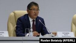 Білім және ғылым министрі Ерлан Сағадиев. Астана, 18 тамыз 2016 жыл.