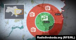 Покриття передавача бойовиків за версією Мінінформу України