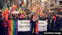 İstanbulda keçirilən etiraz aksiyası