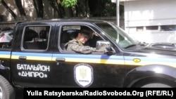 Автомобіль батальйону «Дніпро», Дніпропетровськ, 30 червня 2014 року