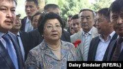 Kyrgyz President Roza Otunbaeva at commemoration ceremonies in Osh on June 10