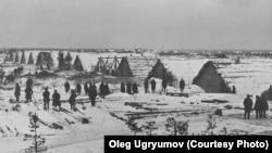 Лагерь спецпоселенцев Макариха, 1930 г.