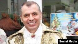 Так называемый спикер «Госсовета» Крыма Владимир Константинов на «парламентской ёлке»