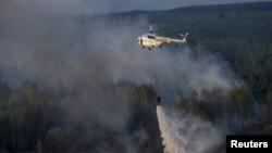Попередню пожежу в «Чорнобильській пущі» гасили водою з вертольота