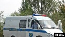 Полицейская машина в Алматинской области. Иллюстративное фото.