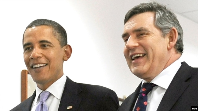 U.S. President Barack Obama with British Prime Minister Gordon Brown