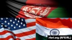 بیرقهای افغانستان، هند و امریکا