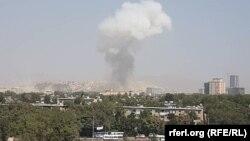 محل انفجار در شهر کابل
