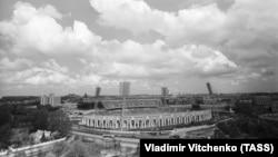 Менскі стадыён «Дынама» ў 1980 годзе