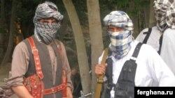 Purported Islamic Movement of Uzbekistan (IMU) militants in Afghanistan's northern Konduz Province (undated file photo)