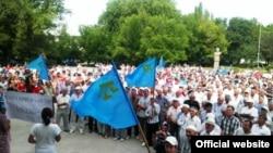 Мітинг кримських татар в Кіровському