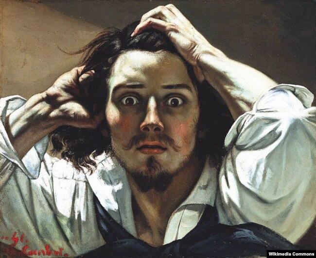 Гюстаў Курбэ «Адчайны чалавек» (1843)