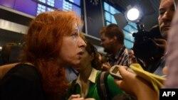 На встречу с Эдвардом Сноуденом прибыла и заместитель директора московского офиса Human Rights Watch Татьяна Локшина