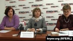 Архивное фото: пресс-конференция председателей первичной профсоюзной организации предприятия «Крымхлеб», 2014 год