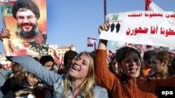 طرفداران حزبالله در خیابانهای بیروت