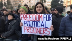 Митинг оппозиции в Баку в поддержку политзаключенных, 19 января 2019 г.