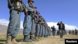 FILE; Afghan police force in Zabul