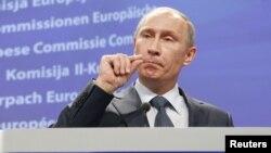 Премьер-министр России, кандидат в президенты страны Владимир Путин.