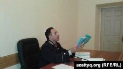 Жумабай Абишев, судья Карагандинского областного суда. 27 октября 2015 года.