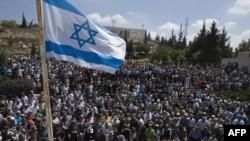 مراسم خاکسپاری چهار اسرائیلی که در حمله سه شنبه حماس کشته شدند.