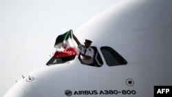 ایرباس ای ۳۸۰ در فرودگاه امام خمینی